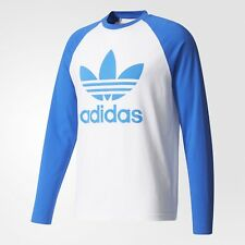 NEW MEN'S ADIDAS ORIGINALS TREFOIL LONG SLEEVE TEE SHIRT ~SIZE LARGE #BR2025
