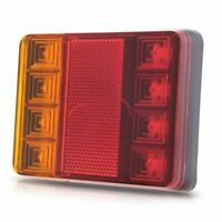 2X(8 LED DC12V Waterproof Taillights Rear Tail Light For Trailer Truck Boat