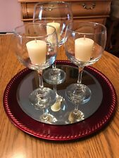 Wine Glass Goblet Candle Holder Center Piece
