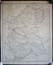 POLEN - schöne Landkarte von 1831 Original!!