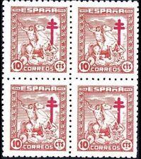 España 1944. Pro Tuberculosos en bloque de 4. Ed 984. MNH. **.