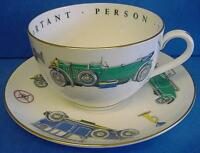 ROYAL WORCESTER VIP JUMBO CUP & SAUCER VINTAGE MOTORCARS - VERY IMPORTANT PERSON