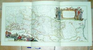 Donau Donaulauf alte Landkarte Reproduktion 90 x 43 cm Janssonius 1657 Bayern