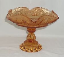 """Westmoreland PRINCESS FEATHER GOLDEN SUNSET*9 1/2"""" FOOTED BOWL w/DORIC FOOT*PF58"""