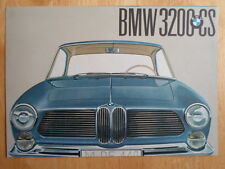 BMW 3200CS V8 Coupe original 1961 UK Market brochure prospekt - 3200 CS