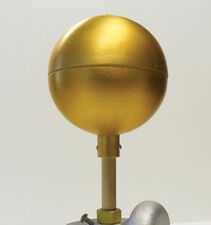 """3"""" Diameter Flagpole Top Ball Ornament Gold Anodized Aluminum Made in Usa"""