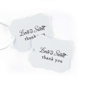 Love Is Sweet Thank You Wedding Favor Tags Cards 25/pk