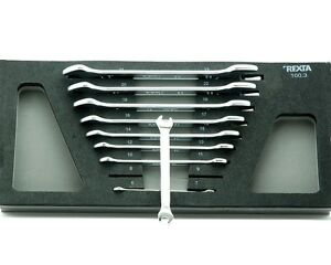 REXTA Set Kit N.9 Keys Wrenches Combined A Fork Double for Workshop