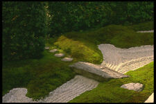 334021 Kyoto temple Garden Stone Bridge A4 Photo Print