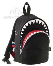SHARK Backpack MEDIUM BLACK Morn Creations bag kindergarten pre school kid tale