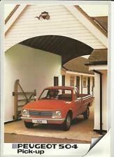 PEUGEOT 504 PICK-UP SALES BROCHURE 1982  1983