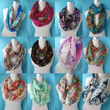 *US Seller*lot of 5 infinity fashion scarf, double loop eternity circle scarf.