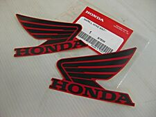"HONDA MSX125 GROM GROM125 RED-BLACK WING STICKER DECAL SET 2Pcs. ""GENUINE PARTS"""