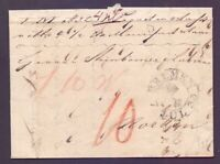 Vorphilabrief Bremen 1833 mit großem Schlüsselstempel nach Norden (534)