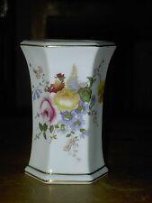 Royal Crown Derby ( Derby Posies ) Hexagonal Vase  In V.G.C. Free UK Poatage