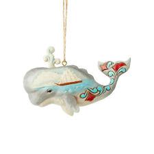 Jim Shore Christmas Beach Coastal Whale Ornament New 2019 6004035
