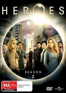 Heroes Season 2 (PAL 2,4,5) DVD Region 4 NEW+SEALED