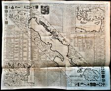 GEOGRAPHY OF THE STATES OF THE REPUBLIC OF VENICE Engraving by Chatelain - 1719