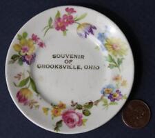 1910s Era Crooksville,Ohio Souvenir fine china butter pat dish-Hull Pottery Home