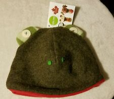CATE AND LEVI TODDLER BOYS DOUBLE LAYER RECLAIMED WOOL FROG HAT 1-3 YEARS