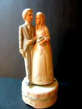 Great Traditional  Wedding Cake Topper w/ music box