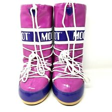 Tecnica Moon Boots womens size 6 pink purple snow boot cold weather outdoor