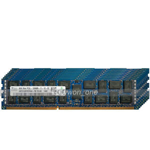 Hynix 64GB 8x8GB 2Rx4 PC3L-12800R DDR3 1600MHz 240Pin RDIMM ECC REG Server RAM