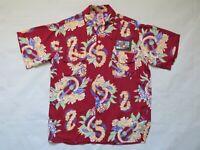 1940's Vintage Aloha Shirt Medium Ashfield Duke of Hollywood RAYON Hawaiian EXC