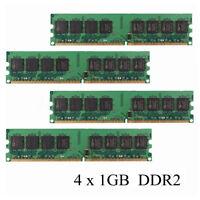 4GB (4x1GB) Ddr2-533 Pc2-4200 sin ECC Pc De Escritorio De Memoria RAM 240 Pines