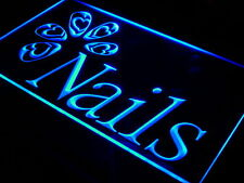 i553-b OPEN Nails Beauty Salon Shop Neon Light Sign