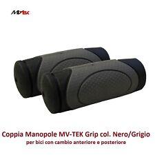 Coppia Manopole MV-TEK Grip col. Nero/Grigio per Bici 27,5-29 MTB Mountain Bike