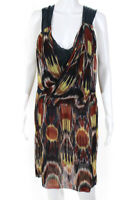Dries Van Noten Womens Silk Abstract Print A Line Dress Multi Colored Size EUR 3
