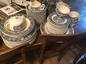 Full set of Stratwood Collection vintage dishes, Shakespeare Country. Beautiful!