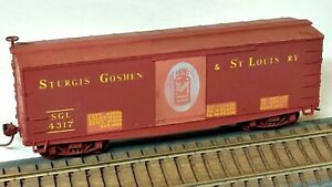 HO Scale Custom Roundhouse Sturgis Goshen & St Louis Old-Time Fishbelly Box Car