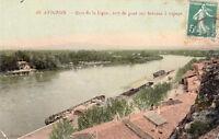AVIGNON 40 quai de la ligne sert de pont aux bateaux à vapeur timbrée