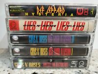 Guns N' Roses Lot of 5 Cassettes Lies Use Your Illusion 1 Appetite for Destruc