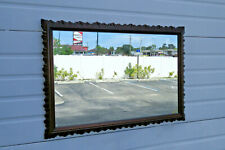 Chinese Chippendale Solid Mahogany Carved Mirror 1372