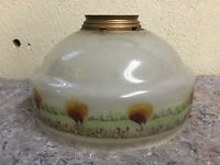 Antique Hand Painted Lamp Shade