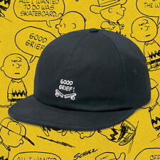 Van s Off the Wall Peanuts Charlie Brown Baseball Cap Hat Adjustable OSFM  Black 42d4c968f81a
