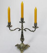 Kerzenleuchter Jugendstil Kerzenständer Messing-Optik Antik Barock tisch Deko
