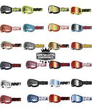 100% STRATA 2 Goggles -ALL COLORS- Offroad MX MTB Motocross CLEAR OR MIRROR LENS