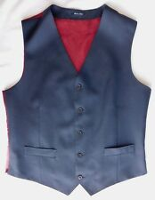 Ink blue wool waistcoat mens Charles Tyrwhitt chest size 42 inch slim fit L NEW