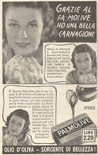 Y3020 Sapone PALMOLIVE - Una bella carnagione... - Pubblicità del 1939 - Old ad