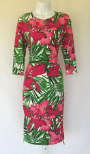 NEW WITH TAGS MICHAEL KORS SIZE 14 FLORAL STRETCH DRESS NYLON SPANDEX BLEND
