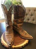 Ariat Women's Heritage Brown Overlay Cowgirl Western Boots Size 7.5 B 10007964