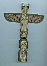 Century-old Indigenous/Indian Thunder Bird Totem Pole from British Columbia