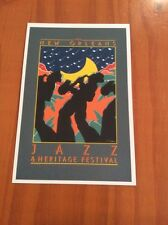 1980 New Orleans Jazz Fest Poster Postcard Phillip Collier
