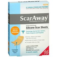 ScarAway Silicone Scar Treatment Sheets, 1.5 x 3 inch 8 ea (Pack Of 2 Boxes)