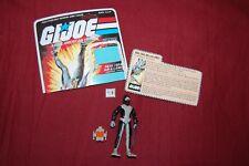 VINTAGE GI JOE SEAL TORPEDO ACTION FIGURE Complete w/FILE CARD 1983