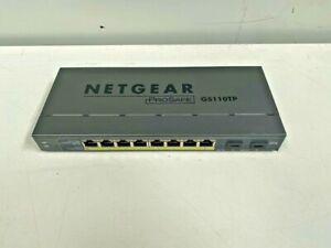 Netgear Prosafe 8 Port Gigabit Smart Switch PoE Fiber Uplink GS110TP